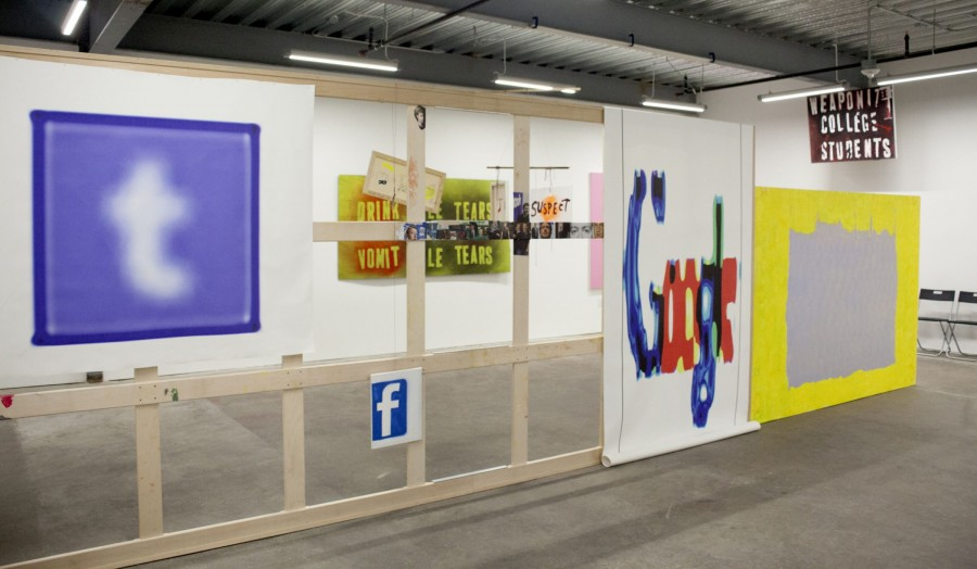 Mark Gold: Paintings from the War for Social Justice, installation view at Ever Gold [Projects].