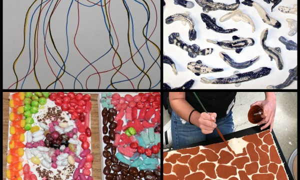 SFArtsED Summer Show: A giraffe, fish and a slice of pizza walk into an art class...